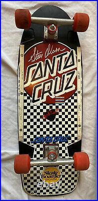 1980 1st Release Santa Cruz-steve Olson Completeultra Rare Checkerboard/dot