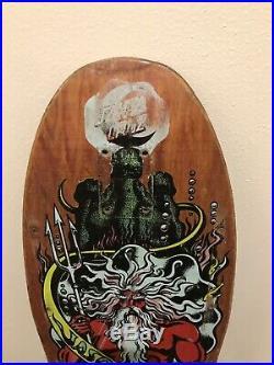 1980s Santa Cruz Jason Jessee Neptune Skateboard Deck Vintage OG Powell Peralta