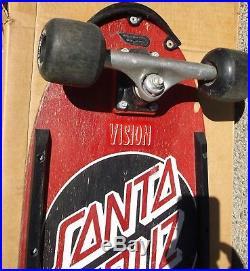 1983 Santa Cruz R/s C Dot Skateboard Complete Deck Rare Tracker Powell