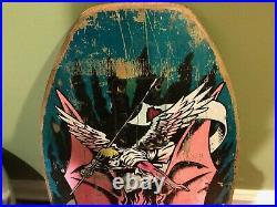 1987 Santa Cruz JEFF GROSSO Demon tri-tail Skateboard Deck