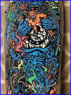 1988 Rob Roskopp Target 5 Vintage Skateboard Deck Phillips Santa Cruz Series