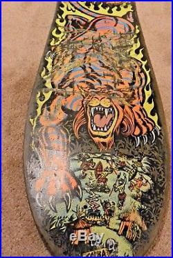 1990 OG Salba Tiger Santa Cruz Skateboard deck rare! No reserve