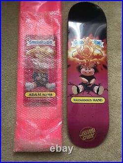 1st GPK Garbage Pail Kids Santa Cruz Hazardous Hand Adam Bomb Skateboard Deck