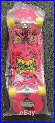 2012 Santa Cruz Rob Roskopp Face Complete Skateboard Pink New