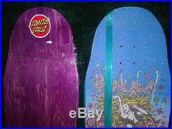 3 autographed Santa Cruz Erick Winkowski Primevil skateboard decks ojs indys