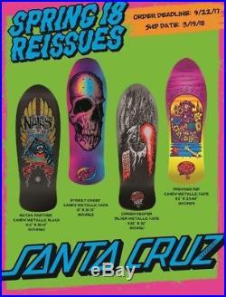 4 Santa Cruz decks reissue complete Spring 2018 series Natas Hosoi Jesse Dressen