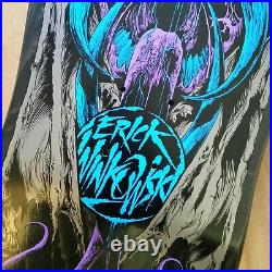 Autographed Erick Winkowski Santa Cruz Primeval Metal Glow Skateboard Deck