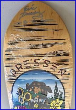 Autographed Santa Cruz Eric Dressen Doghouse Vintage Skateboard Deck Reissue