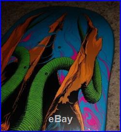 Autographed Santa Cruz Erick Winkowski Primeval Blacklight Skateboard Deck