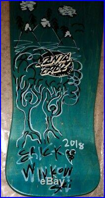 Autographed Santa Cruz Erick Winkowski Primeval Skateboard Deck
