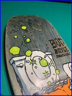 Bod Boyle Santa Cruz Sick Cat Teal Rare Color Original 1990 Used Skateboard Deck