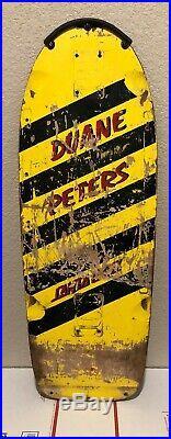 DUANE PETERS Santa Cruz Vintage Skateboard Deck Powell Sims Vision Alva