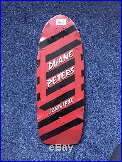 Duane Peters Skateboard Deck Santa Cruz Reissue