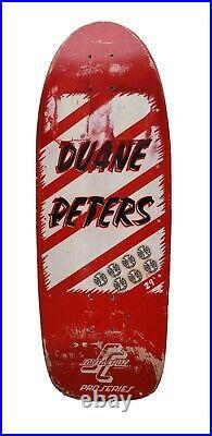 Duane Peters Skateboard Deck Vintage Rare Original OG Santa Cruz