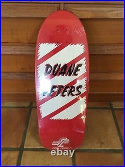Duane peters skateboard santa cruz re issue model nos 2008 screenprinted
