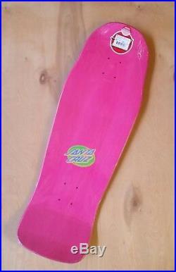 Erick Winkowski Santa Cruz Primeval Blacklight Skateboard Deck 10.34 x 30.54