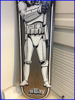 Excellent Condition Santa Cruz Star Wars Stormtrooper Skateboard Deck Limited