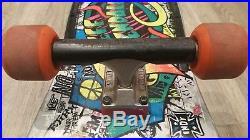 Extremely Rare Santa Cruz Jeff Kendall Graffiti Silver Skateboard Vintage 1986
