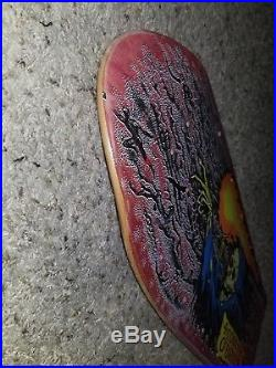 FREE SHIPPING Vintage Corey OBrien Reaper Santa Cruz Skateboard Deck rare as is