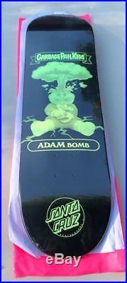 GPK Garbage Pail Kids Santa Cruz Skateboard Deck Adam Bomb Nuclear Glow Skate