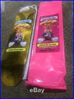 Garbage Pail Kids Santa Cruz Filthy Rich Foil Gold Skateboard Deck Extra Rare