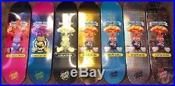 Garbage Pail Kids Santa Cruz Skateboard COMPLETE SET OF 7 Deck GPK Adam Bomb