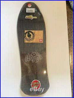 Hosoi Picasso Santa Cruz Reissue Skateboard Deck- Black Stain