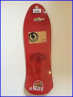 Hosoi Picasso Santa Cruz Reissue Skateboard Deck- Red Stain
