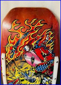 Hosoi Santa Cruz Collage Pink Candy Hammerhead Vintage Skateboard Deck Picasso