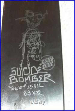 Jason Jessee Santa Cruz skateboard Rape of Liberty Suicide bomber Deck
