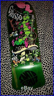 Jeff Grosso Skateboard Deck Santa Cruz Ap/100 Cease & D Rare Alice In Wonderland