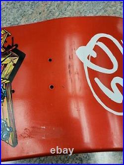 Jeff Grosso Toy Box Santa Cruz Pro Shop Red Metallic Reissue Skateboard Deck
