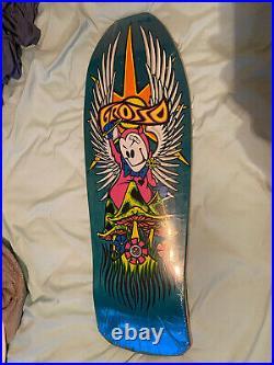 Jeff grosso Forever skateboard deck 1989 reissue Black Label Blue Santa Cruz