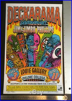 Jim Phillips & Jimbo Phillips Art Show Poster 2004 Santa Cruz Skateboards