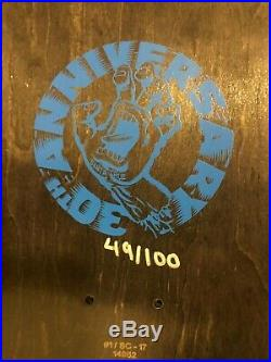 Jim Phillips Santa Cruz Skateboard Deck Signed Edition Of 100 Hand Screen Print