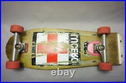 John Lucero Rare Vintage Santa Cruz Skateboard Bullet wheels Independent trucks