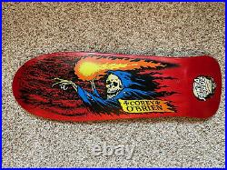 LIMITED RUN 2016 Santa Cruz Corey O'Brien Reaper Skateboard Deck (Red Stain)