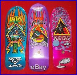 Lot 3 Santa Cruz SMA Skateboards Metallic Panther Evil Cat Kitten Natas Kaupas