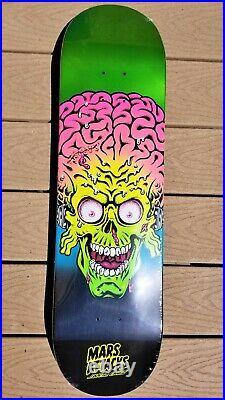 Mars Attacks Candy Metallic Terror Santa Cruz Skateboard Deck Rob Roskopp Face