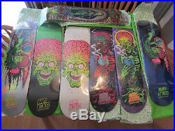 Mars Attacks Limited Edition Santa Cruz Topps Skateboard Full Set Free Shipping