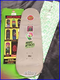 Mars Attacks Santa Cruz Divine Heritage Jason Jessee Metallic Skateboard 8.25