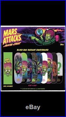 Mars Attacks Santa Cruz Skateboard Deck Metallic Terror 8.25 #2