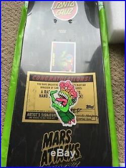 Mars Attacks Santa Cruz Skateboard Deck Rarity Level Your Brain Explodes 1/1