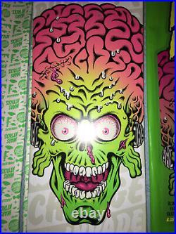 Mars Attacks X Santa Cruz Skateboard Deck Glowing Fear #6 Glow In The Dark Board