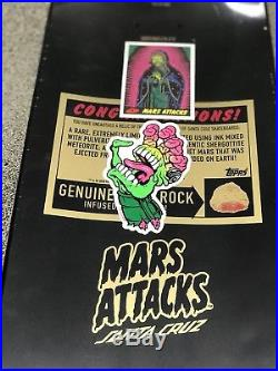 Mars attacks Santa Cruz skateboard deck Maid of Mars only 250 made with mob grip