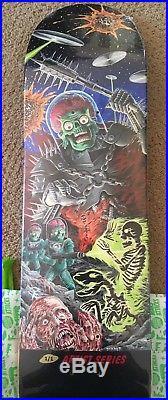 Matt Stikker custom painted Santa Cruz Skateboards Mars Attacks deck! 1/1