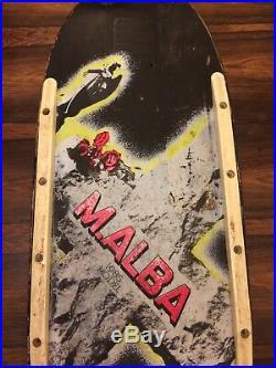 Micke Alba Malba Old School Deck Skateboard Vintage Graveyard Tombstone Santa