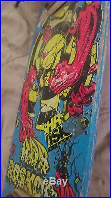 NEAR MINT Vintage Santa Cruz Rob Roskopp Target 3 Skateboard! AWESOME! Sims G&S