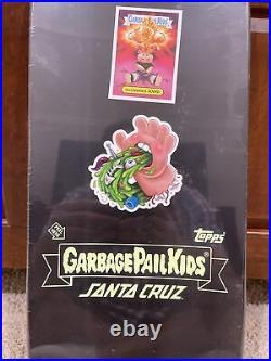 NEW GPK Garbage Pail Kids Santa Cruz Skateboard Deck Nuclear Glow Adam Bomb #1