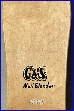 NOS G&S NEIL BLENDER PICASSO SKATEBOARD gordon and smith rare vintage santa cruz